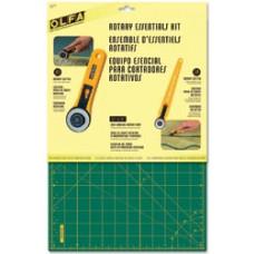 Набор для квилтинга - 2 дисковых ножа + коврик - Rotary Essentials Kit (9670 )