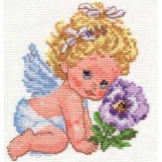 Набор для вышивания крестом Алиса Ангелок счастья (0-14)
