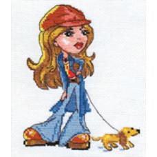 Набор для вышивания крестом Алиса Леди Джинс (0-54)