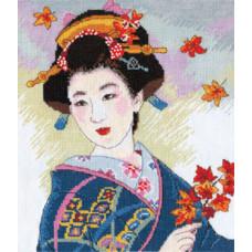 Набор для вышивания крестом Алиса Созерцание листопада (4-04)
