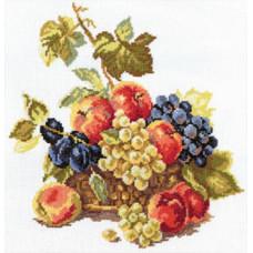Набор для вышивания крестом Алиса Яблоки и виноград (5-04)