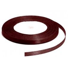 Атласная лента, шоколадная, 6мм