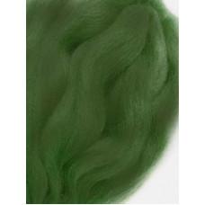 Шерсть тонкая для мокрого и сухого валяния, тёмно-зелёная (100г)