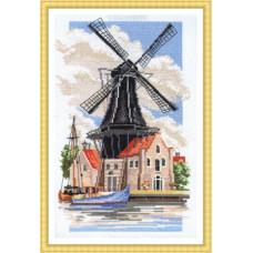 Набор для вышивания крестом Panna Мельница на берегу канала (ПС-726)