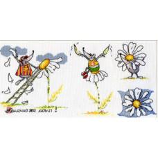 Набор для вышивания крестом Panna Гадание на ромашке (ВК-602)