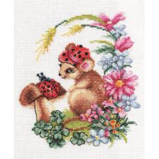 Набор для вышивания крестом Panna Задумчивый мышонок (Д-273)