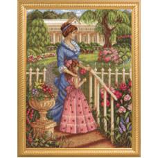 В цветущем саду (ИС-1077)
