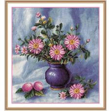 Букет хризантем в вазе (Ц-978)