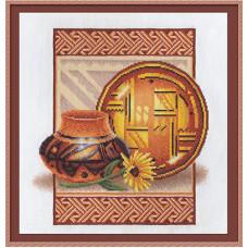 Набор для вышивания крестом Panna Глиняная посуда (Н-839)