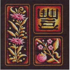 Набор для вышивания крестом Panna Иероглиф Изобилие (И-853)