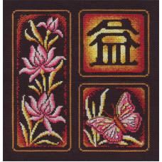Набор для вышивания крестом Panna Иероглиф Приумножение (И-852)