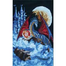 Набор для вышивания крестом Panna Дракон голубой планеты (Ф-580)
