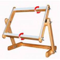 Станок настольный, рама 35х40 см, с корсажной, липкой лентой и вращающимися планками, бук (СБ35-40)