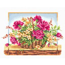 Корзина с розами (Ц-114)*