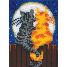 Набор для ковроткачества Caron Мяуканье при луне (426122)