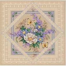 Набор для вышивания крестом Dimensions Цветы и кружево (35105)