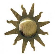 Клипса Солнце, античное золото