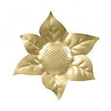 Клипса Подсолнух, золото