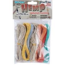 Набор пеньковых шнуров для рукоделия, Rainbow (KM311)