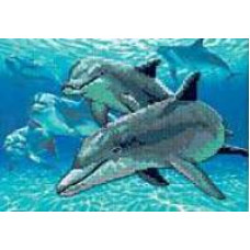 Набор для вышивания крестом Морские дельфины (6944)