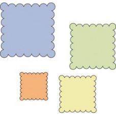"Набор форм для вырезания Cuttlebug 2""X2"" Die Set, Scalloped Squares (37-1218)"