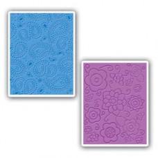 Папки для тиснения Sizzix Textured Impressions Embossing Folders, Spring Flowers & Paisley (655836)