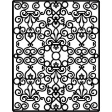 Пластина для тиснения Spellbinders Impressabilities Die, Floral & Stone (12-1-1006)