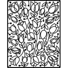 Пластина для тиснения Spellbinders Impressabilities Die, Tulips (12-1-1008)