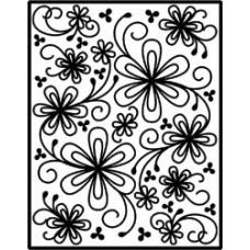 Пластина для тиснения Spellbinders Impressabilities Die, Flower Silhouette (12-1-1015)