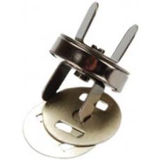 Магнитная застёжка для сумки, черный никель (MS18MM-BN)
