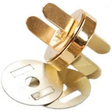 Магнитная застёжка для сумки, золото (MS18MM-G)