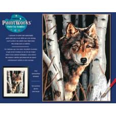 Волк среди деревьев (91254)