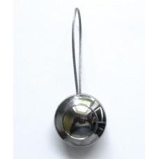Магнитный подхват, Полусфера с ободком, серебро