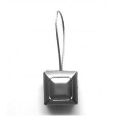 Магнитный подхват, Квадрат, матовое серебро