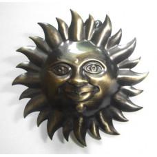 Клипса Солнышко, античное золото