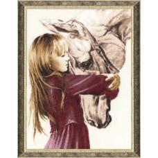 Девочка с лошадью (СВ-016)*