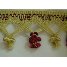Бахрома Колокольчик, золото-бордо (ST 03)