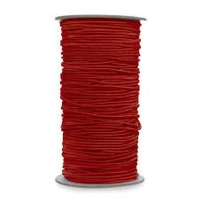 Нитка-резинка для бисероплетения, красная