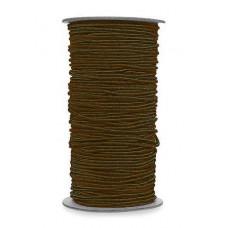 Нитка-резинка для бисероплетения, шоколадная
