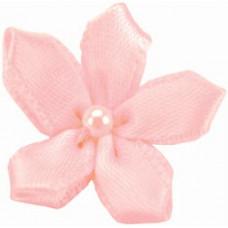 Фиалки из ленты, светло-розовые (15259-117)