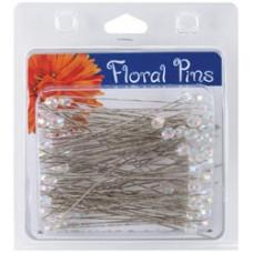 Булавки цветочные, граненый хрусталь Floral Pins 3 6mm  (38077)
