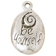 Подвески металлические - Будь собой Be yourself (62136)