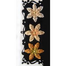 Цветы-Брадсы с эмбоссингом и позолотой (517991), эконом-пакет