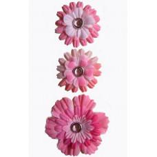 Набор брадсов Розовые цветы (253021), эконом-пакет