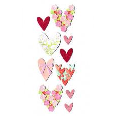 Наклейки блестящие Любящие сердца (SPJJ027)
