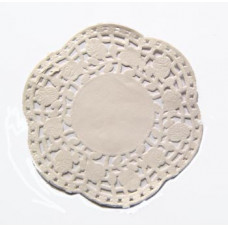Бумажная ажурная салфетка с розочками, круг, 11,4 см (Y002)