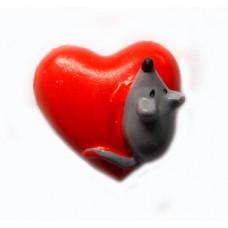 Объёмное украшение Мышка с сердечком