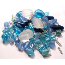 Набор бусин и бисера Dress It Up Beads, Ice Blue, 28 гр. (2516)