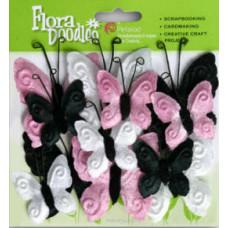 Бабочки из ткани Velvet Butterflies, Pink Poodle (1276707)