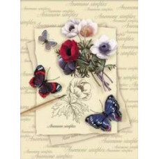 Бабочки с анемонами (РТ-0002)*